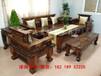 湖州老船木沙發椅組合批發船木泡茶桌中式實木功夫沙發