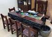 北京船木家具批发实木功夫茶台老船木循环流水茶桌椅组合