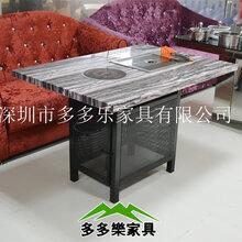 深圳厂家直销自助下沉电磁炉火锅烧烤一体桌椅组合