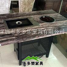 直销韩式红外线烧烤桌定制韩式无烟自助火锅烧烤一体桌