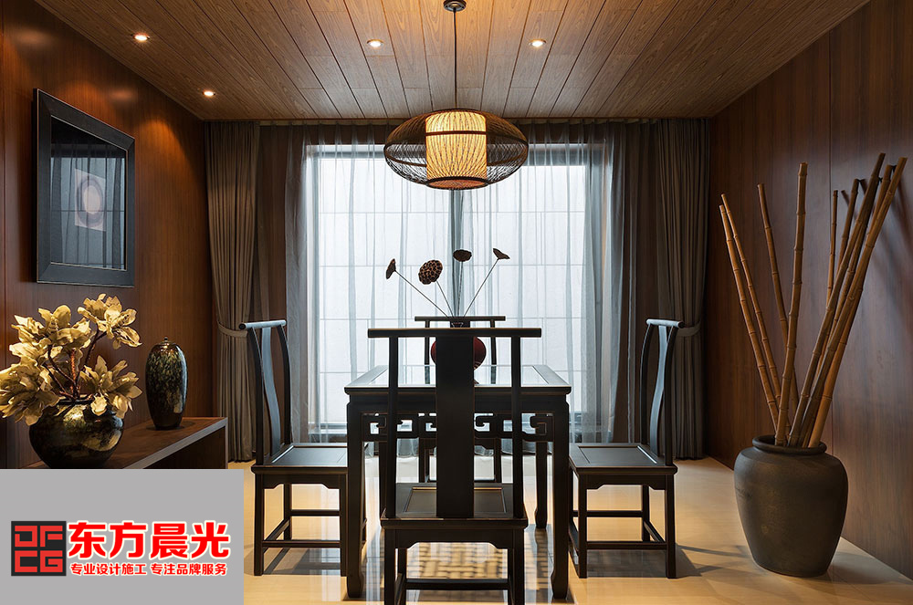 中式雅致四合院室内设计-东方晨光