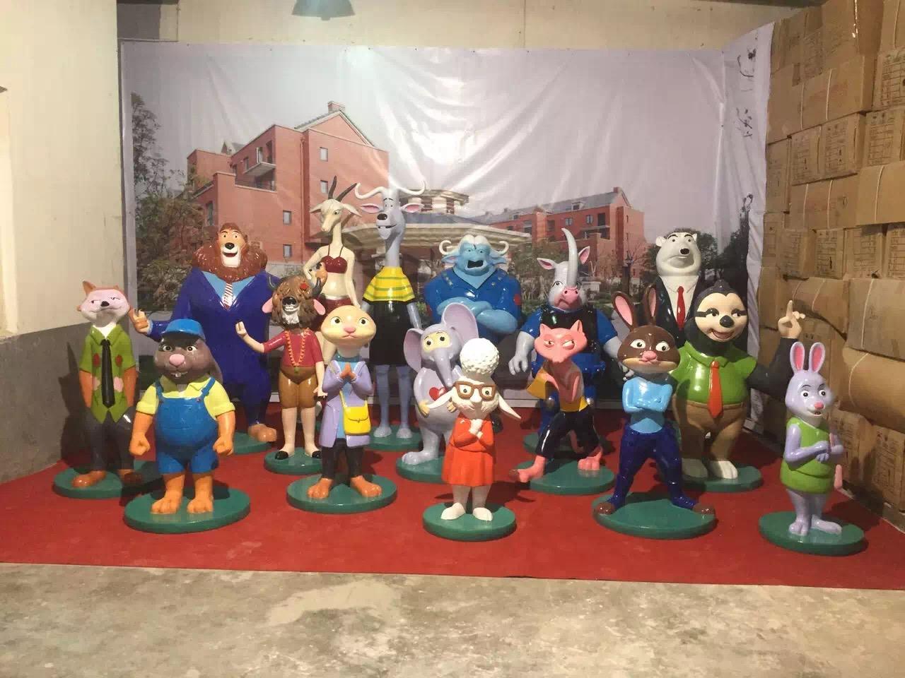 梦幻雨屋出租疯狂动物城雕塑出租出售