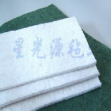 白色化纤毡,涤纶针刺毛毡,清洁毛毡
