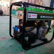 小型250A柴油发电电焊机的空气滤芯更换