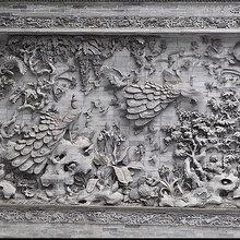 河南砖雕影壁墙砖雕背景墙砖雕石材加工