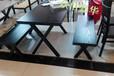 天津办公家具餐桌椅厂家-纯实木桦木餐桌椅-实木餐桌椅