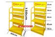壳牌直供机油展架油漆架子北京厂家供应黄色油品架子可拆装多次使用