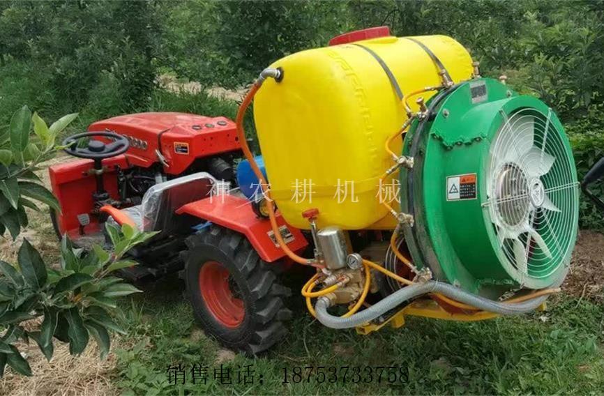 大棚四轮果园旋耕机四轮拖拉机价格