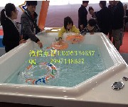 天津金色太阳亚克力一体池婴儿游泳设备厂家供应水上乐园戏水池图片