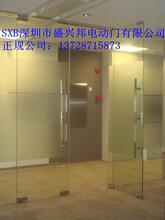 深圳羅湖區自動玻璃門安裝,鋼化地彈簧玻璃門維修費用圖片