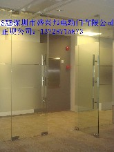 深圳布吉修理玻璃門,平湖鋼化玻璃門安裝,年底合理收費圖片