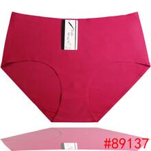 一片式冰丝无痕女士内裤纯色外贸大码妈咪裤ebay速卖通女士三角裤