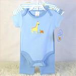 婴儿带衣架外贸套装男宝宝三角爬服裤子三件套
