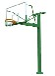 165室外圆管配玻璃钢纤维篮板单臂篮球架厂家批发量大从优
