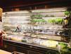 定做噴霧型風幕柜菜品保鮮柜高檔火鍋店菜品自選柜明檔