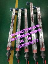 湖南化工厂耐腐蚀PVC,PP液位计,304衬四氟(PTFE)磁翻板液位计价格