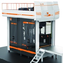 双工位全自动造型机垂直射砂水平分型造型机效率图片