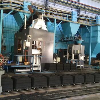 發往福建南平的上下射砂全自動造型機60-70已經安裝調試完成正常生產了