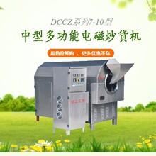 許昌智工電磁炒貨機炒大豆機流水線設備炒豌豆磨粉磨油圖片
