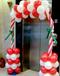 南京圣诞年会气球布置商场气球布置
