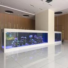 增城東匯城清洗辦公室魚缸,增城廣場辦公室魚缸換水消毒,廣州荔景大道定做風水龍魚缸圖片