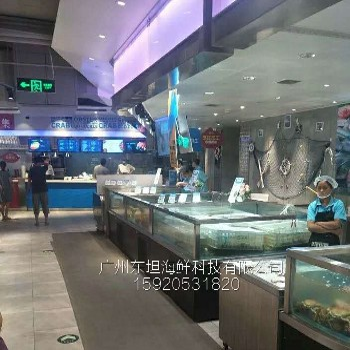 巽寮湾哪里定做生鲜缸,惠东定做海鲜市场鱼池,嘉宏市场定做玻璃鱼缸