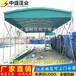 杭州大型雨棚安装效果图-轮式伸缩推拉帐篷-厂家直销