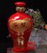 红色1斤陶瓷酒瓶子、批量定做三斤五斤装酒瓶厂家