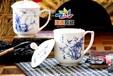 景德鎮陶瓷茶杯、手繪辦公室會議禮品杯、廠家定制杯子