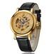 时尚不锈钢全自动机械手表镂空机械手表男士商务机械表