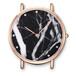 天然大理石石英手表不锈钢手表意大利真皮手表防水