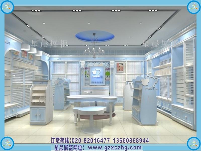广州孕婴用品店设计装修奶粉展柜用品展示柜