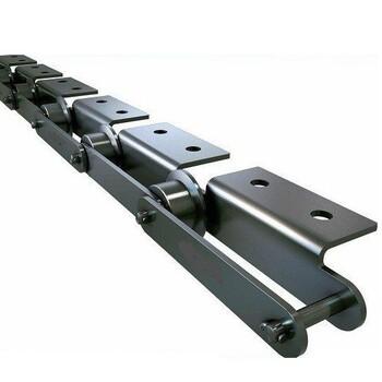 废钢破碎线的链板输送机用链条,节距160mm