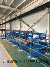 石油管件存放货架伸缩悬臂式管材货架安装钢管货架