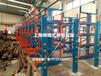 山東東營放棒料用的重型貨架電動伸縮貨架懸臂伸縮貨架特點節省空間是王道