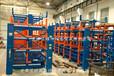 浙江湖州伸縮懸臂貨架價格說明銅排貨架鋼帶存放架管材庫圖片