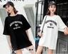 韓版加長版T恤衫批發時尚潮流女裝T恤衫批發