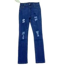 钉珠磨破个性牛仔裤批发时尚小脚裤铅笔裤批发自产自销