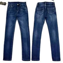 新款平纹牛仔布面料女士刺绣牛仔裤批发厂家直销