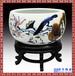 景德鎮陶瓷青花瓷龍魚缸聚寶盆水淺睡蓮水仙荷花盆擺件