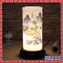 景德镇陶瓷客厅书房床头青花瓷时尚现代中式台灯灯具图片