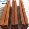 中间带凹槽型材方管仿木纹装饰铝方通焊接弧形铝方通