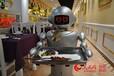 西安一饭店机器人小二提供跑堂上菜服务穿山甲提供服务送餐传菜机器人