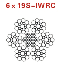 石油钻井钢丝绳6x19s-iwrc