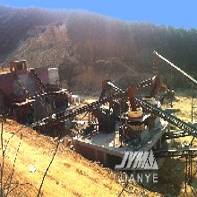 玄武岩石料生产线玄武岩石子生产线石子加工设备福建现场图