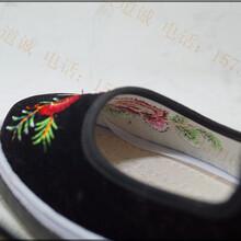 广西贵州哪里有绣花女士布鞋批发鸳鸯绣花布鞋厂家图片