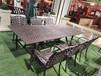 天津戶外燒烤桌庭院鑄鋁燒烤桌鐵藝外擺燒烤桌椅