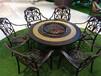 天津戶外碳化防腐桌椅公園酒吧飯店室外實木餐桌椅組合