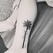 長沙腳踝椰子樹紋身