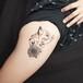 長沙紋身點刺貓咪紋身大腿紋身